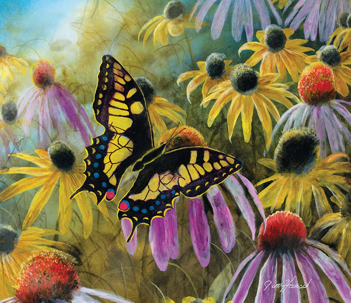 Swallowtail Vistor - Scratch and Dent Butterflies and Insects Jigsaw Puzzle
