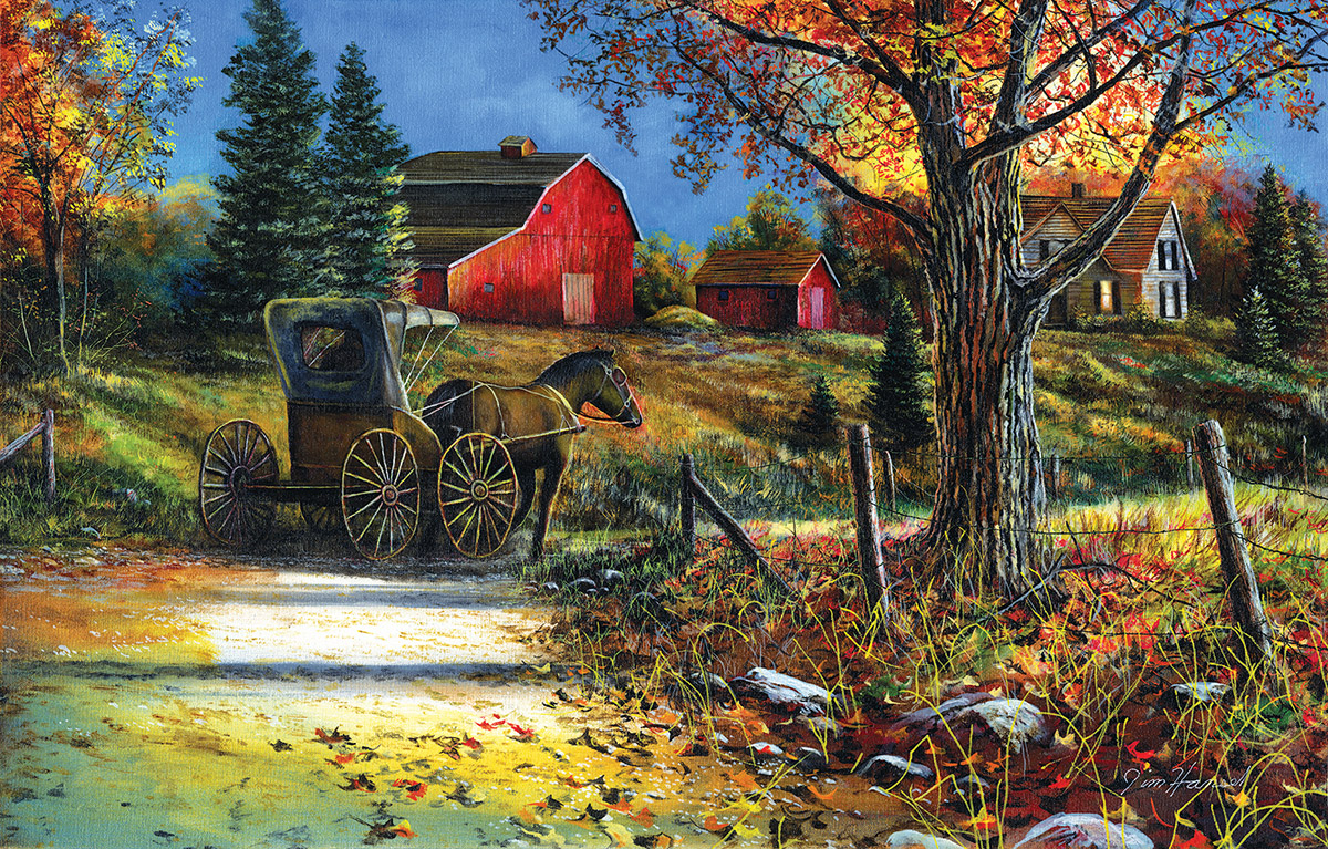 Country Roadside Countryside Jigsaw Puzzle