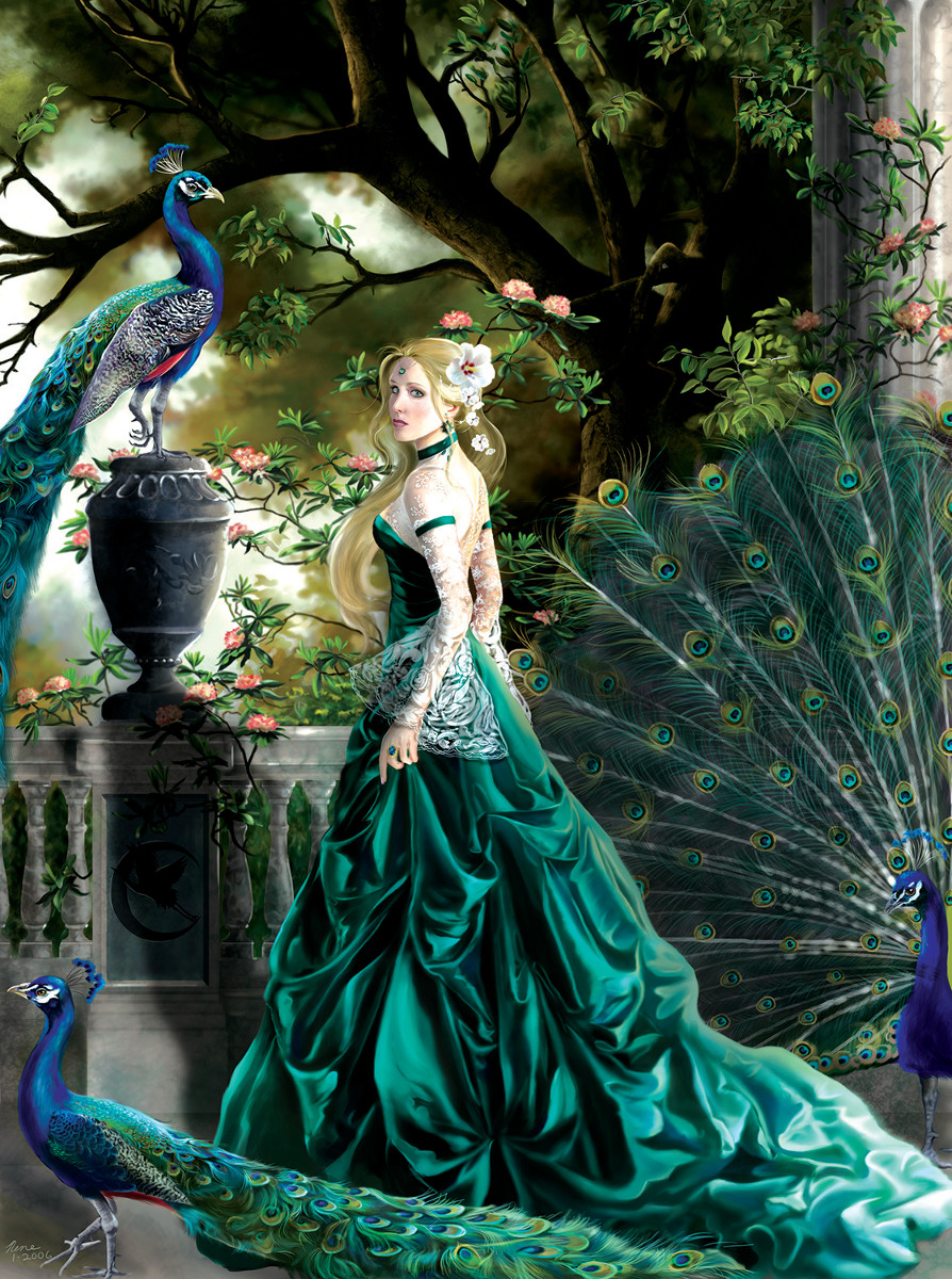 Emerald Hawthorne Garden Jigsaw Puzzle
