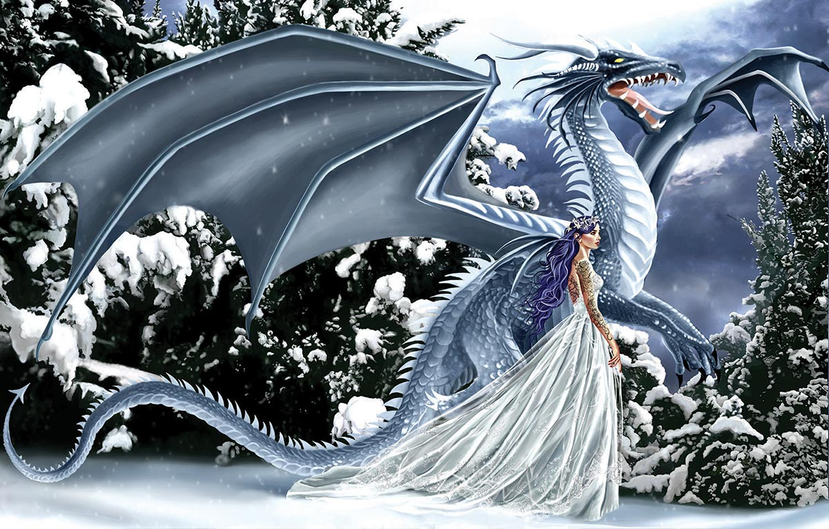 Ice Dragon Fantasy Jigsaw Puzzle