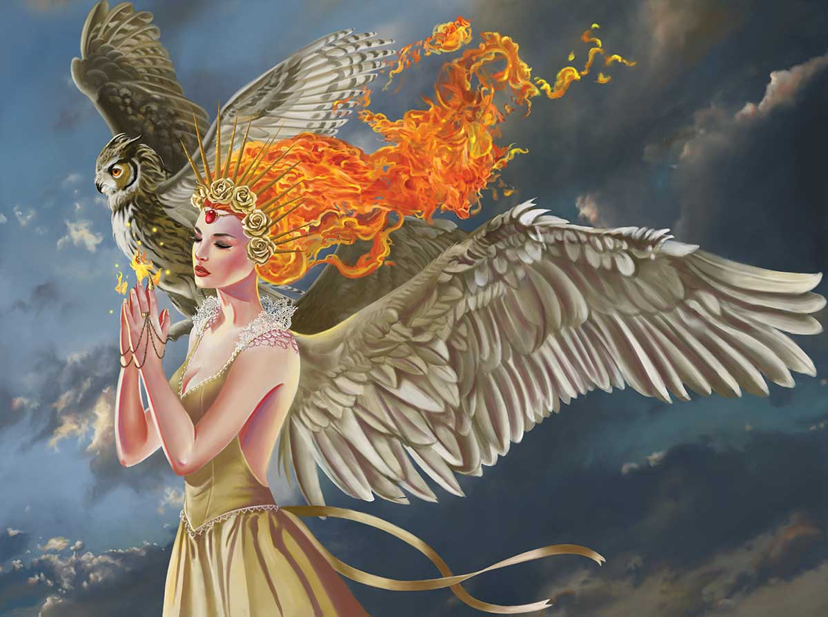 Spirit of Flame Fantasy Jigsaw Puzzle