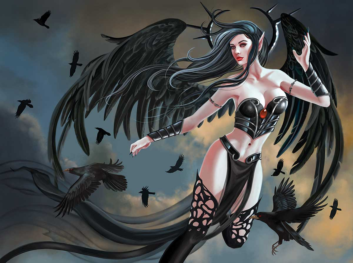 Thorn Angel Gothic Jigsaw Puzzle
