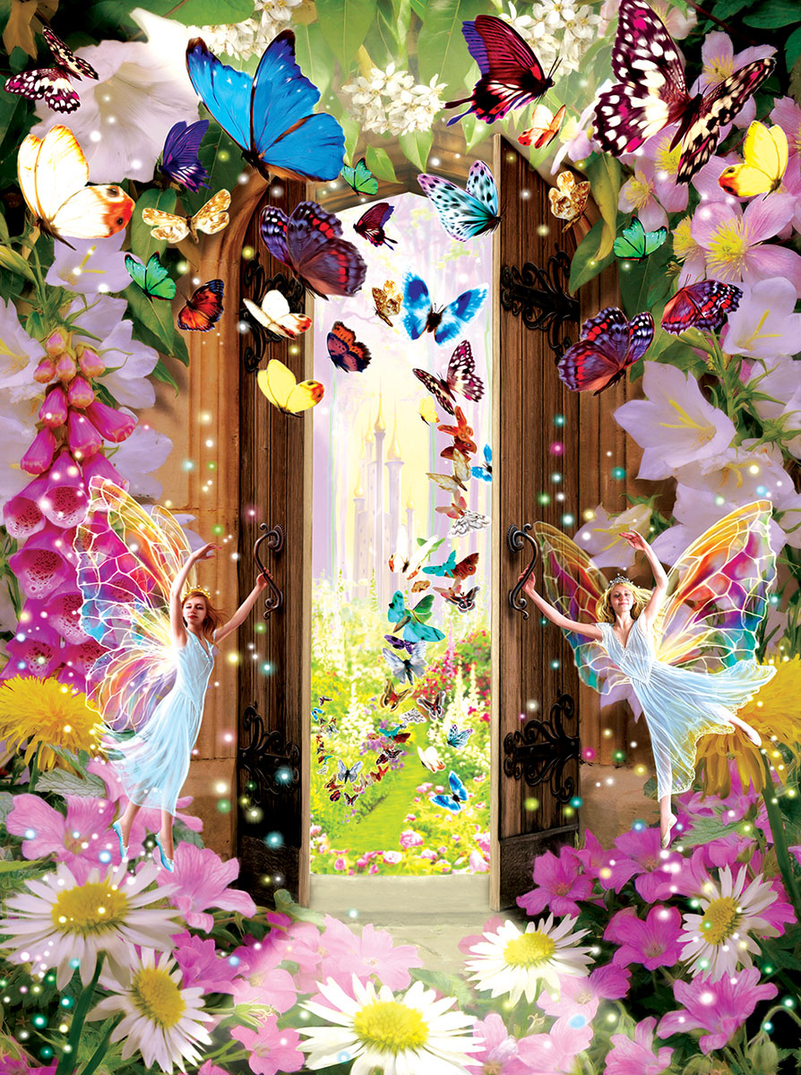 Fairy Door Butterflies and Insects Jigsaw Puzzle