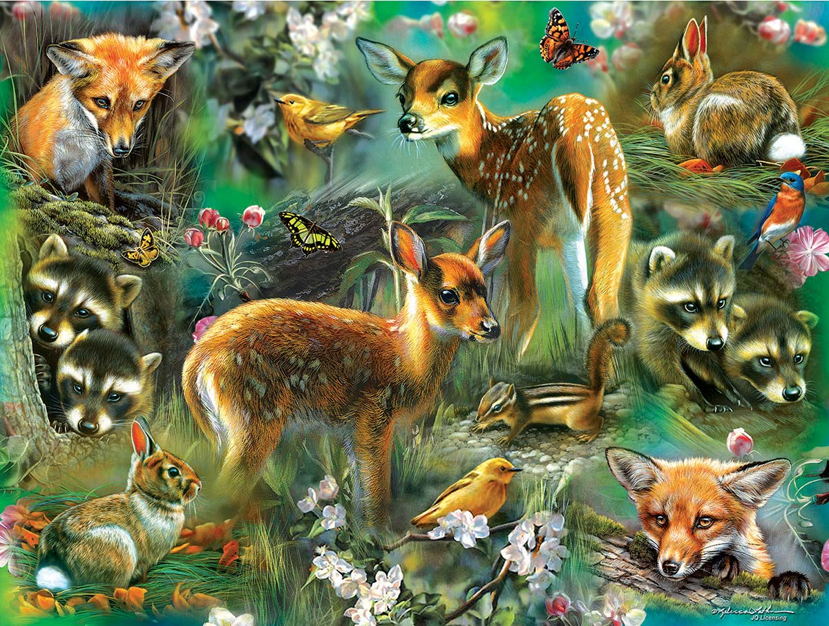 Forest Critters Wildlife Jigsaw Puzzle
