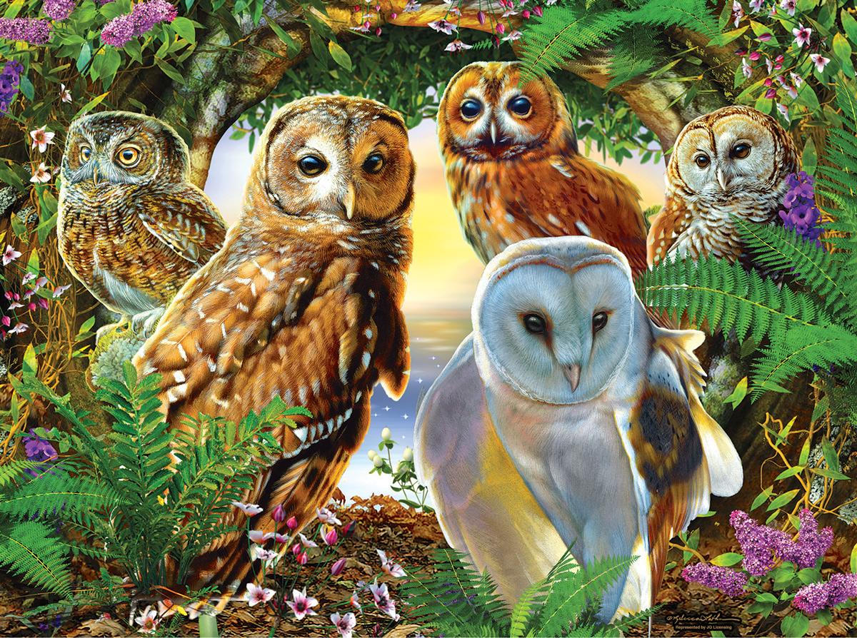 A Parliament of Owls Birds Jigsaw Puzzle
