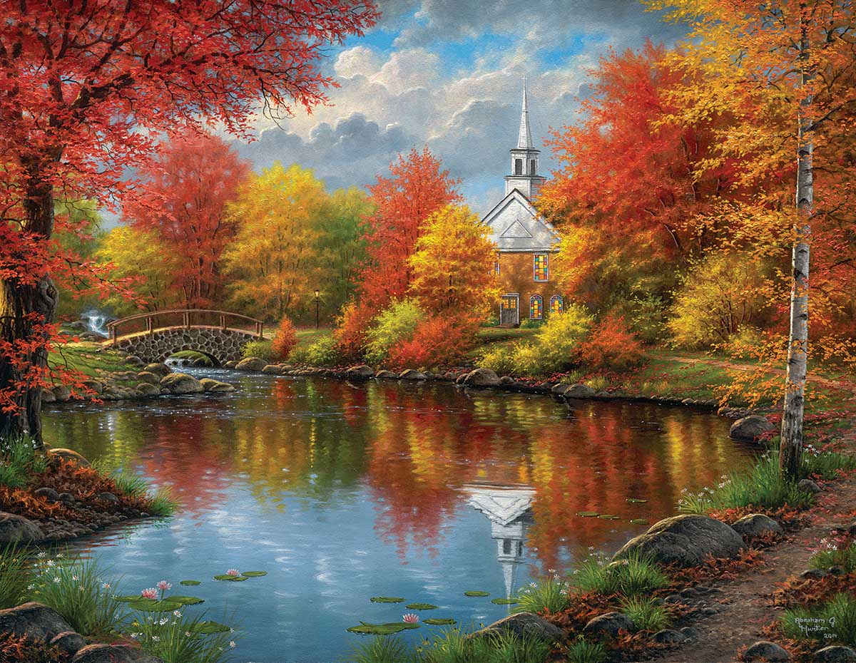 Autumn Tranquility Fall Jigsaw Puzzle
