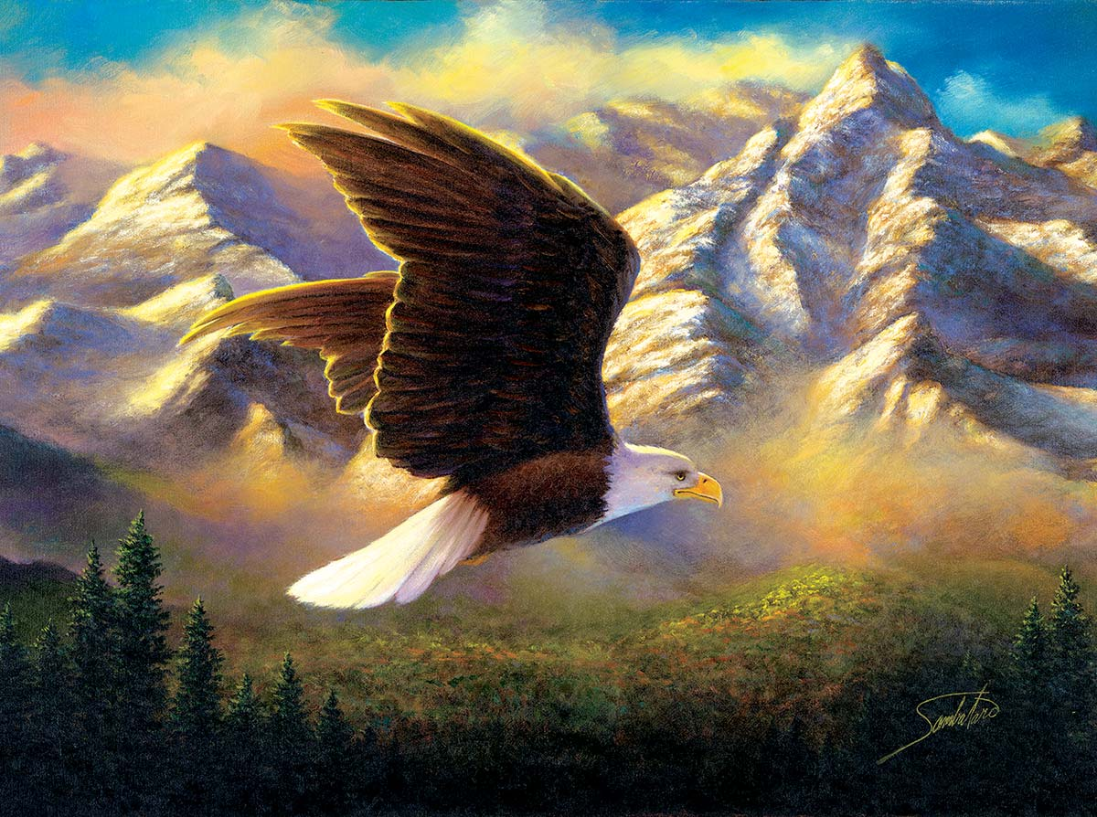 Flying High Mountains Jigsaw Puzzle