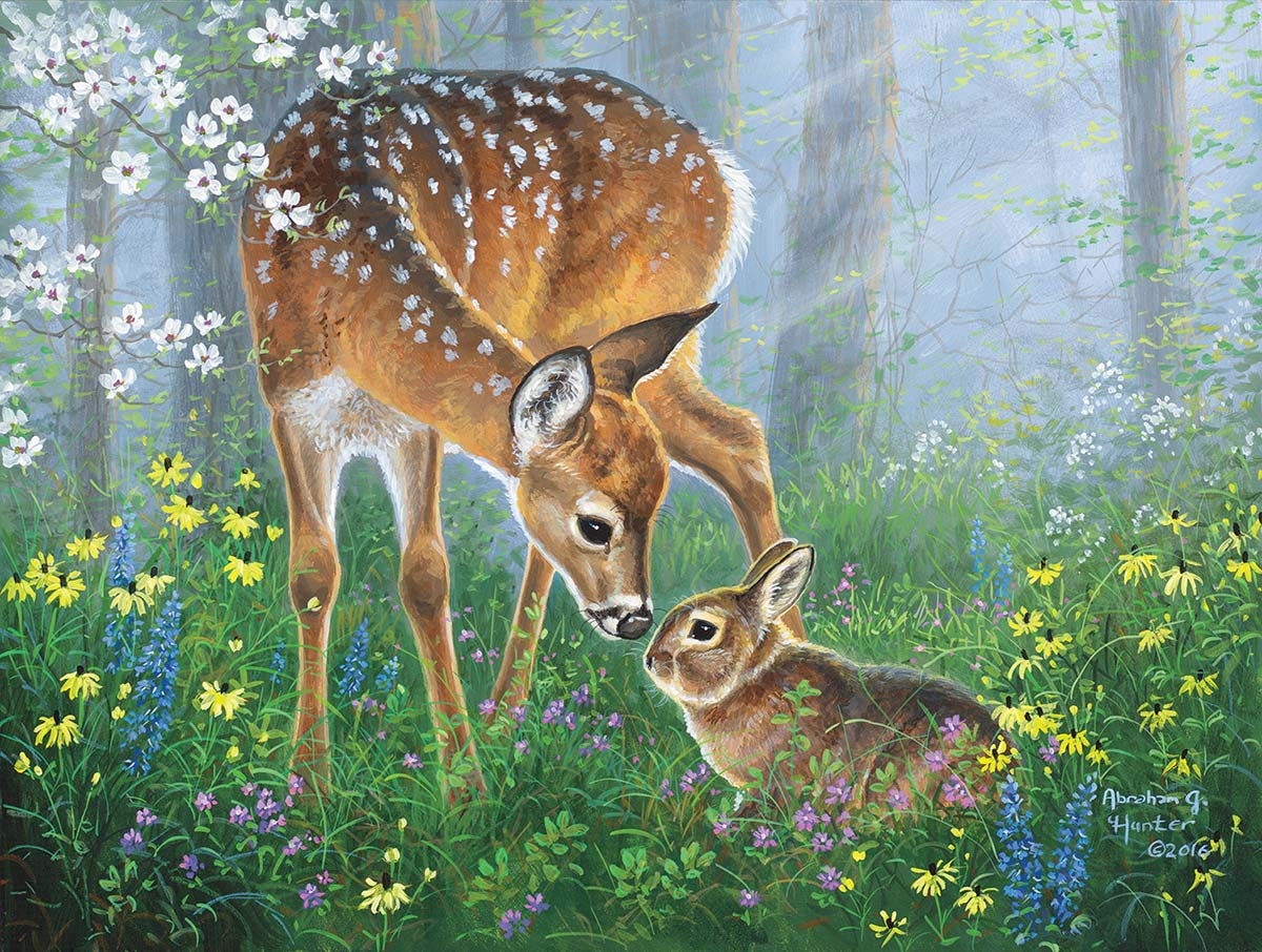 Forest Friendship Wildlife Jigsaw Puzzle