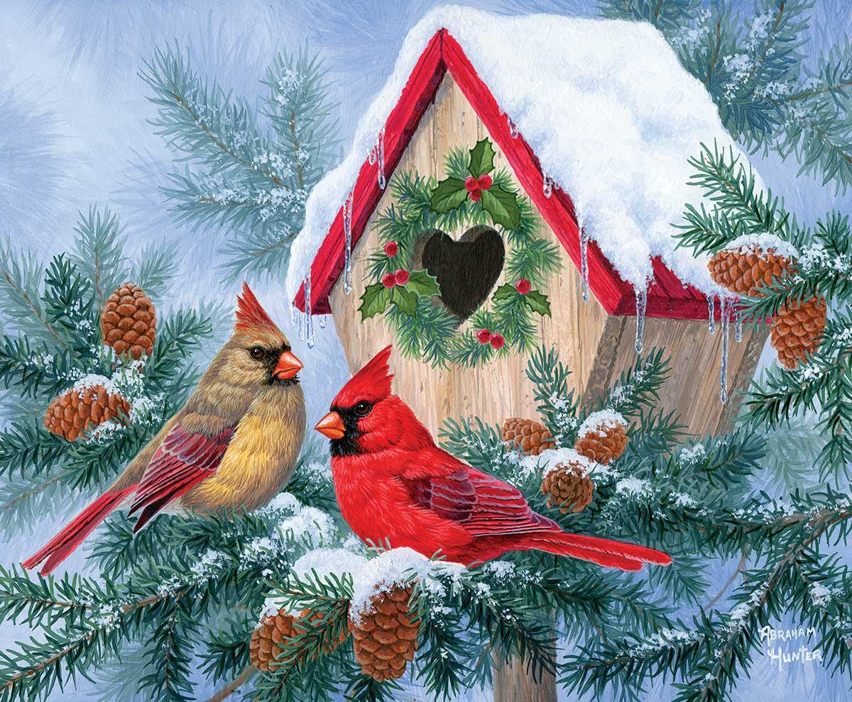 Winter Home Birds Jigsaw Puzzle