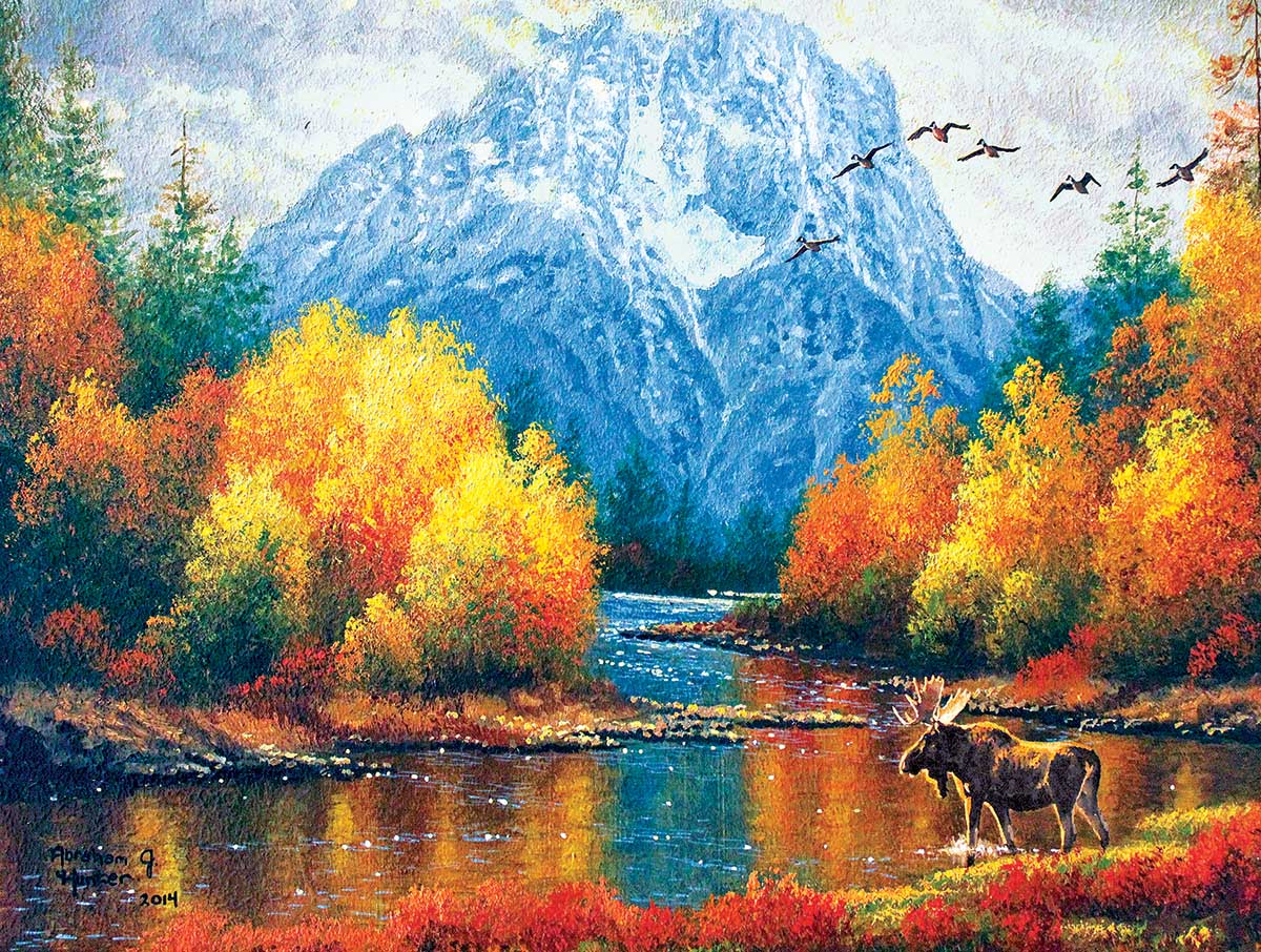 Moran Reflections Mountains Jigsaw Puzzle