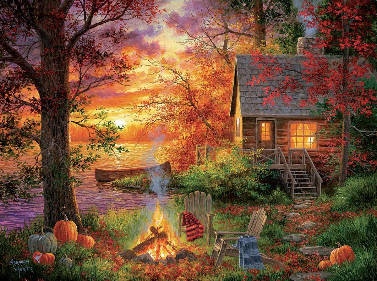 Sunset Serenity Fall Jigsaw Puzzle