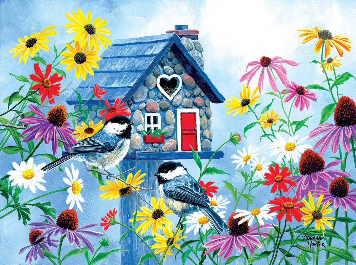 Tweethearts Cottage Birds Jigsaw Puzzle