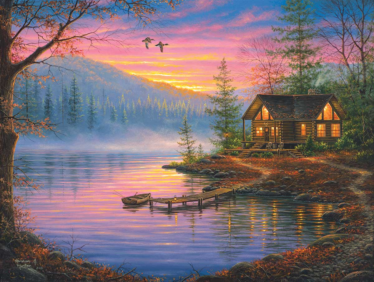 Morning Mist Lakes / Rivers / Streams Jigsaw Puzzle