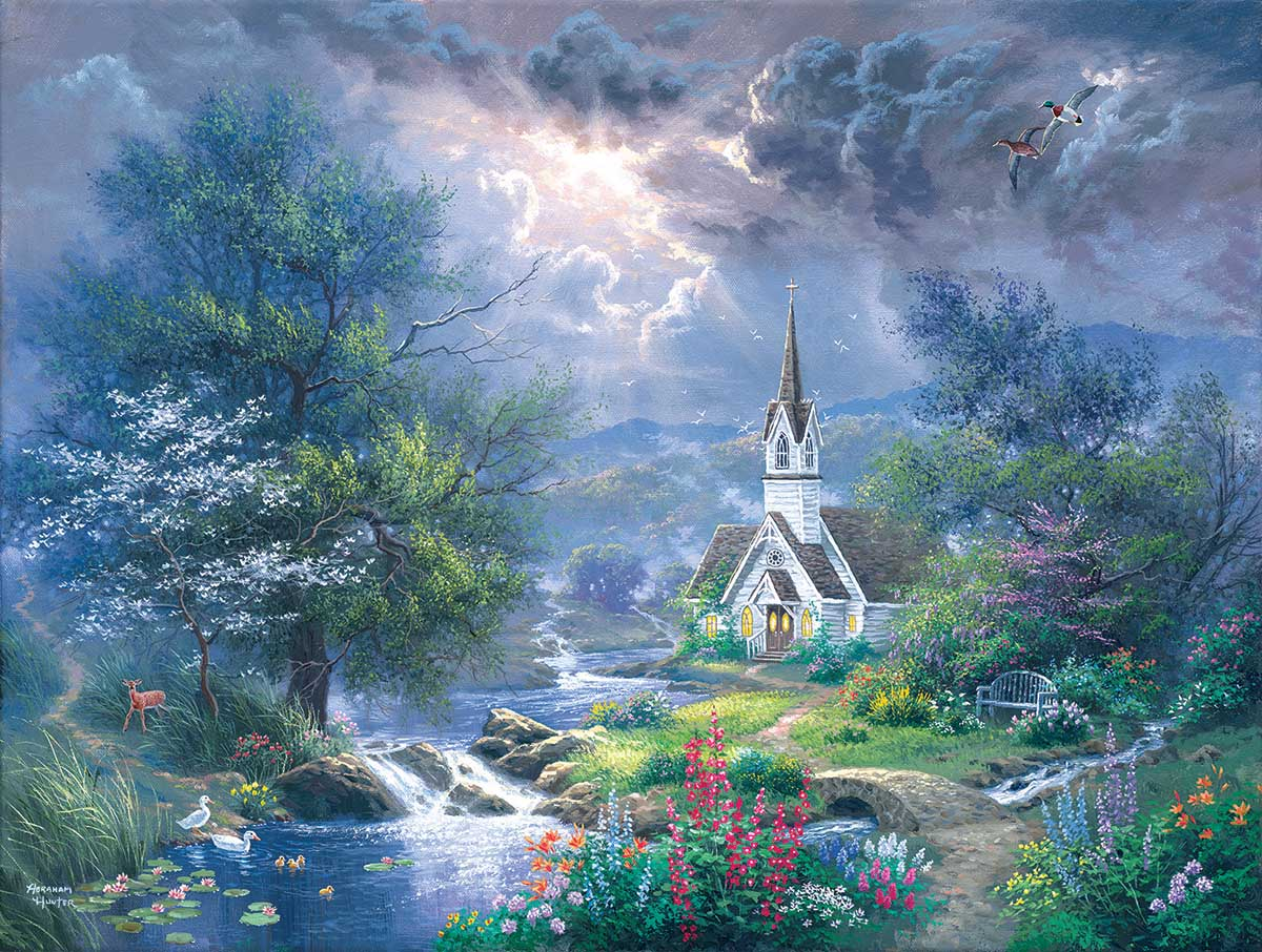 Sweet Hour of Prayer Landscape Jigsaw Puzzle