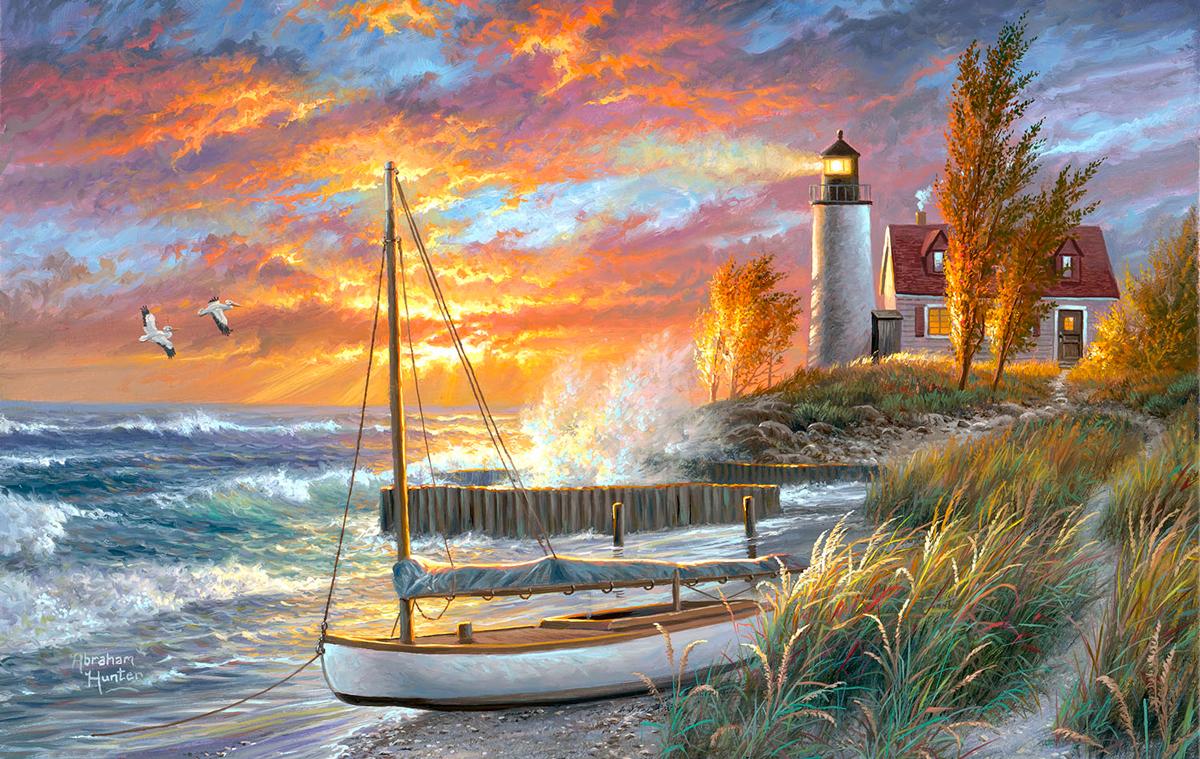 Point Betsie Lighthouse Beach Jigsaw Puzzle