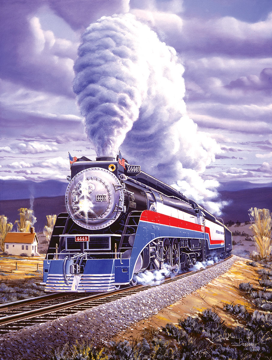 Steel Patriot Trains Jigsaw Puzzle