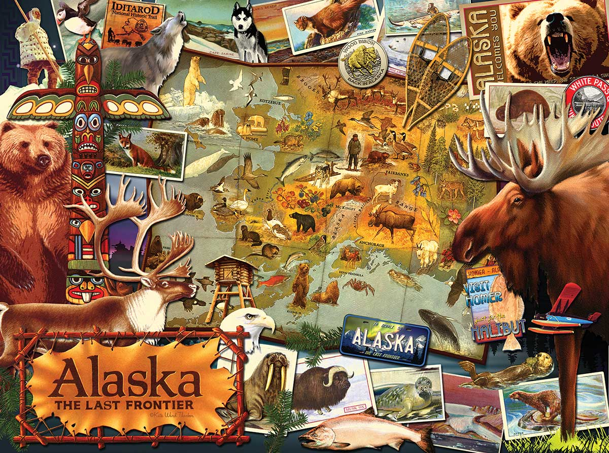 Alaska, the Final Frontier Wildlife Jigsaw Puzzle