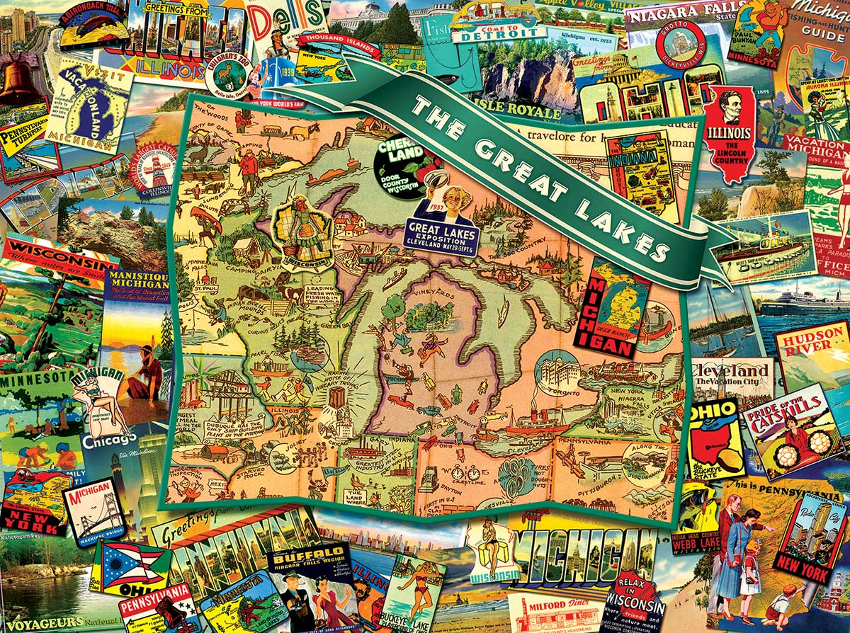 Great Lakes Travel Jigsaw Puzzle