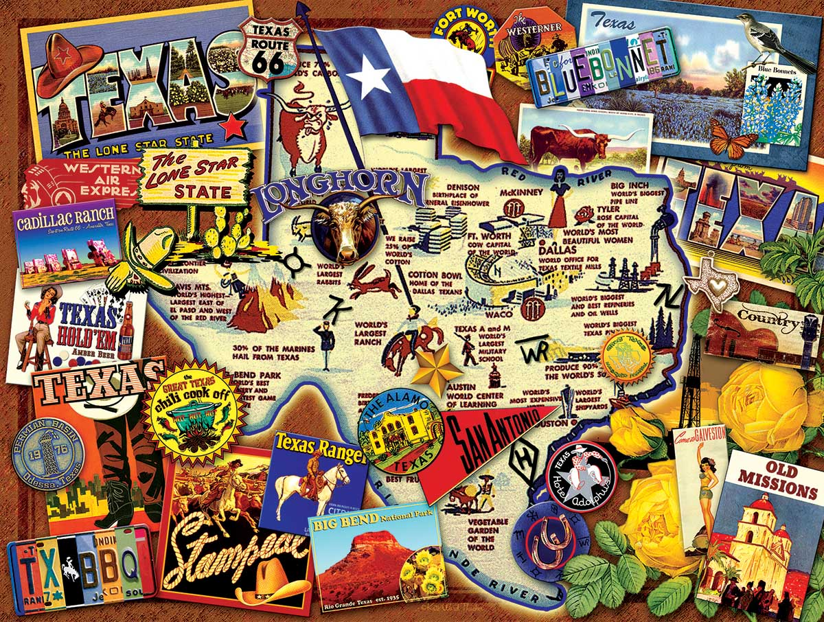 Texas: The Lone Star State United States Jigsaw Puzzle