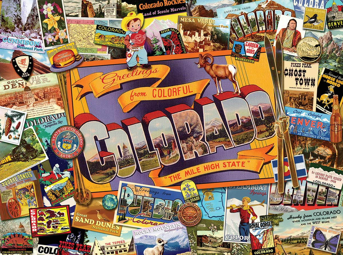Mile High Colorado Travel Jigsaw Puzzle