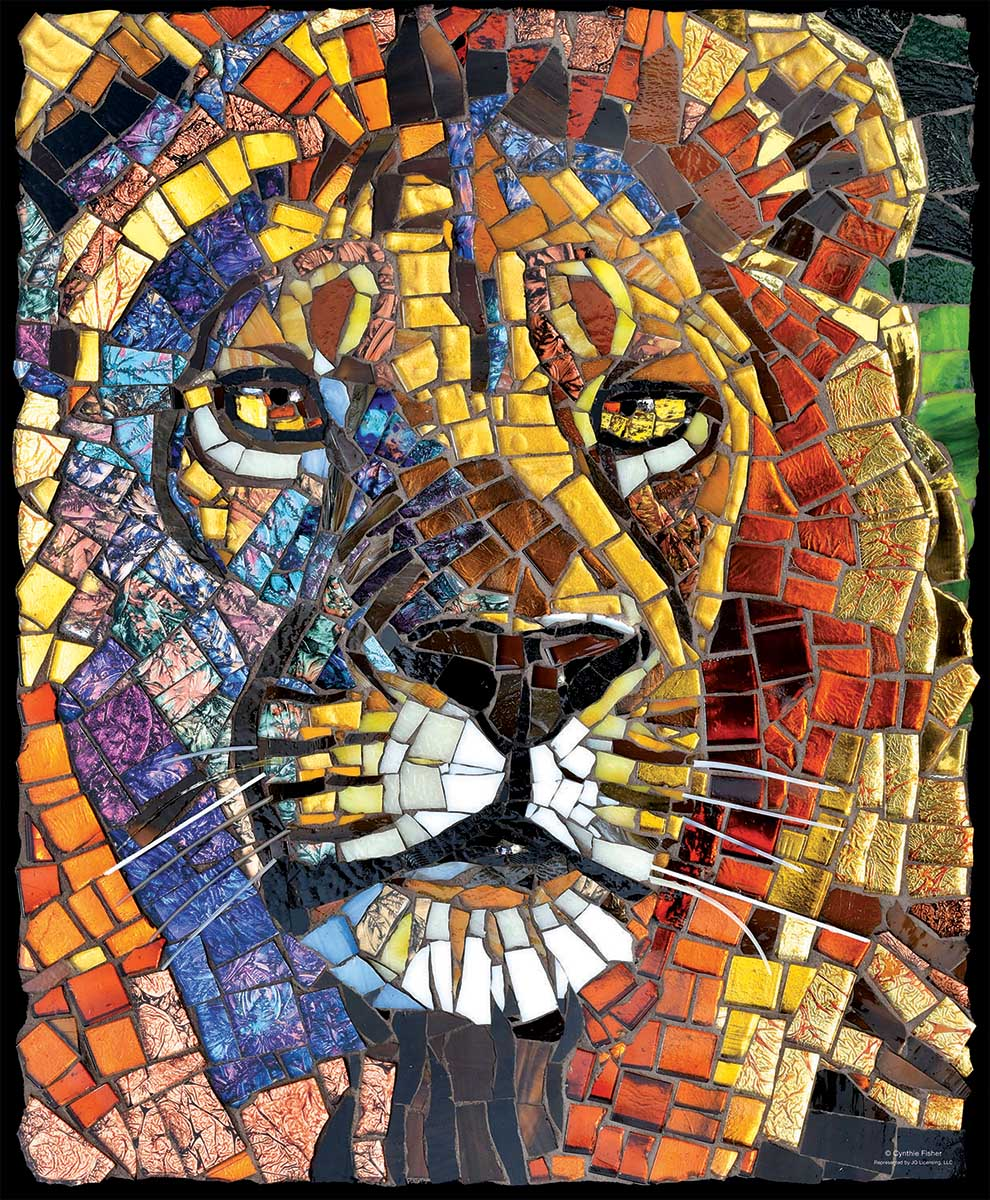 Stained Glass Lion Lions Jigsaw Puzzle