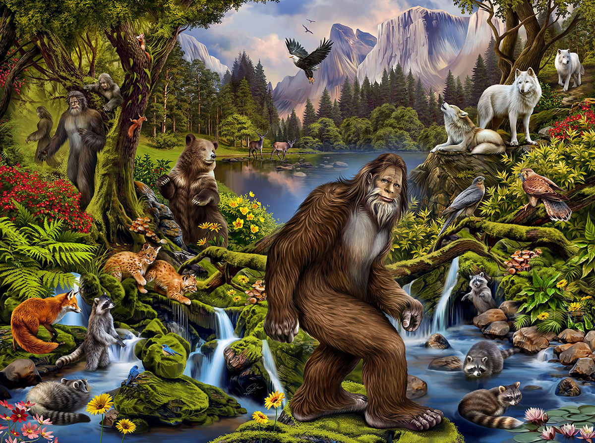 King of the Forest Wildlife Jigsaw Puzzle