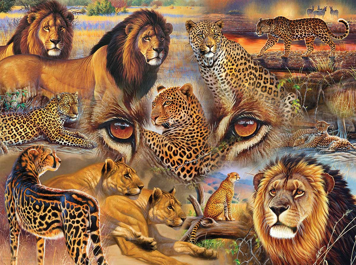 Big Cats of the Plains Cats Jigsaw Puzzle
