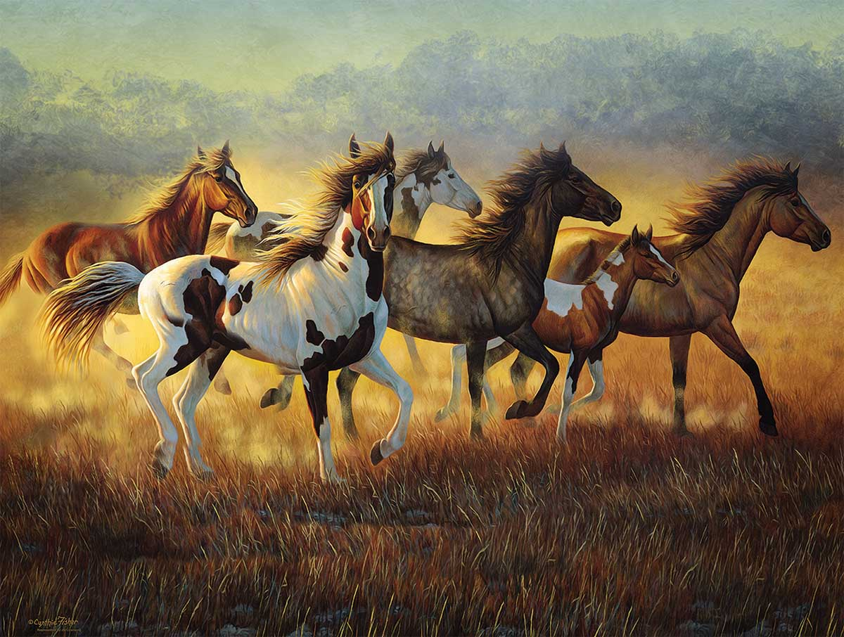 Running with the Wind Horses Jigsaw Puzzle