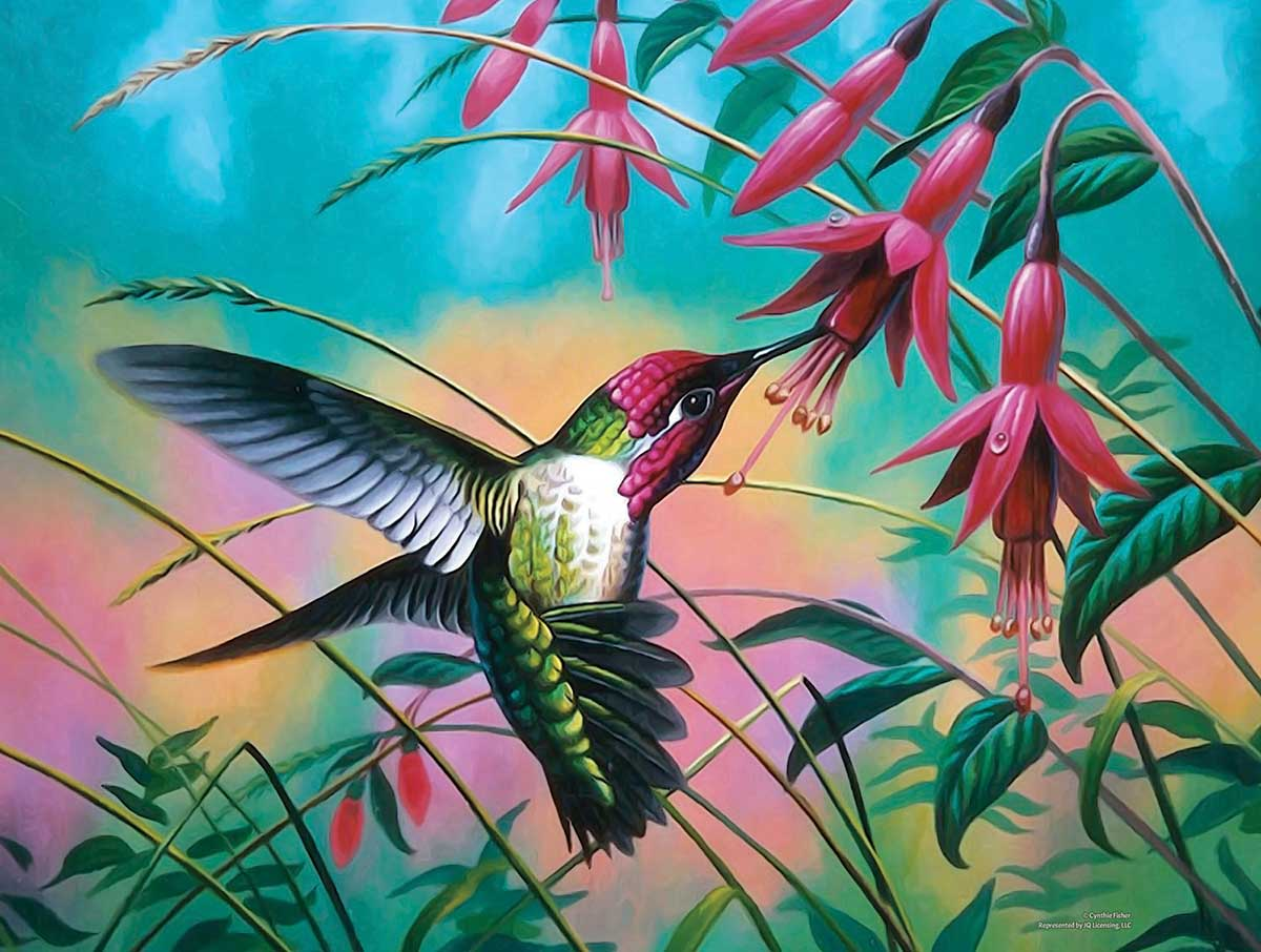 Hummingbird Haven Birds Jigsaw Puzzle