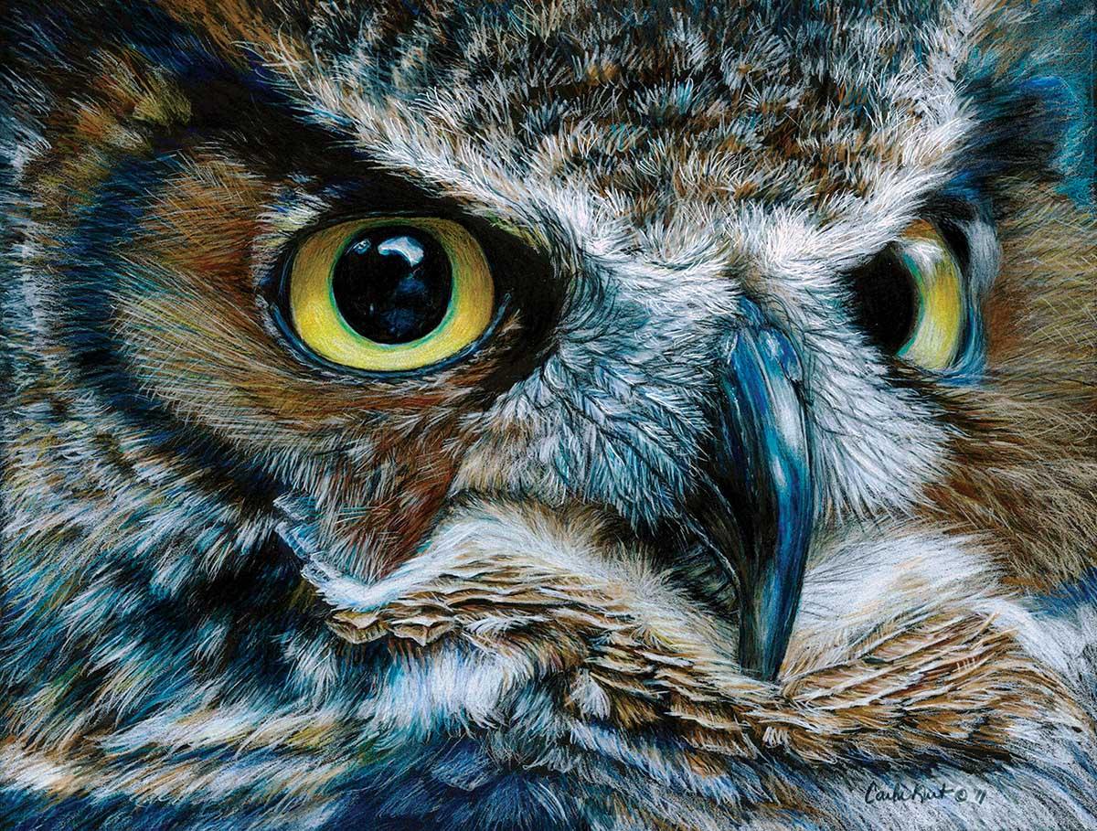 Dark Owl Birds Jigsaw Puzzle