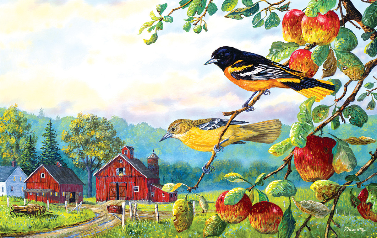 Old Orchard Hideaway - Scratch and Dent Countryside Jigsaw Puzzle
