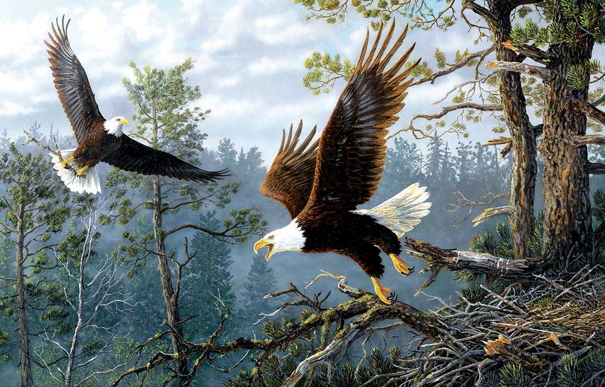 Masters of the Clouds Eagles Jigsaw Puzzle