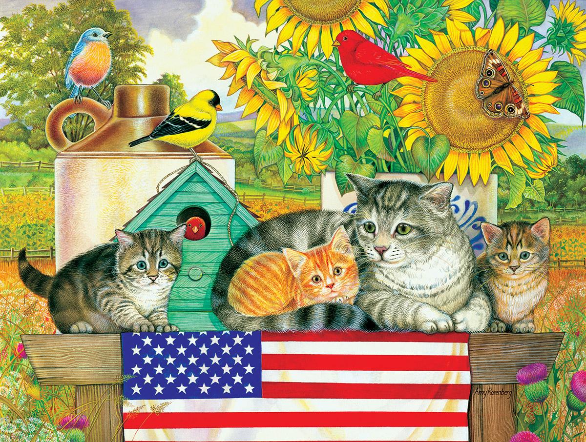 Patriotic Kittens Patriotic Jigsaw Puzzle
