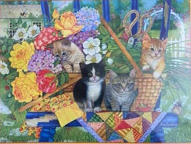 Boutique Kittens Cats Jigsaw Puzzle