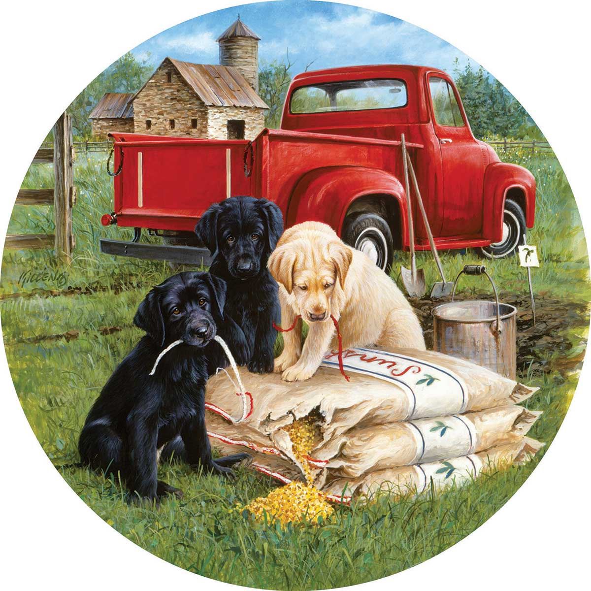 Seeds of mischief Dogs Jigsaw Puzzle