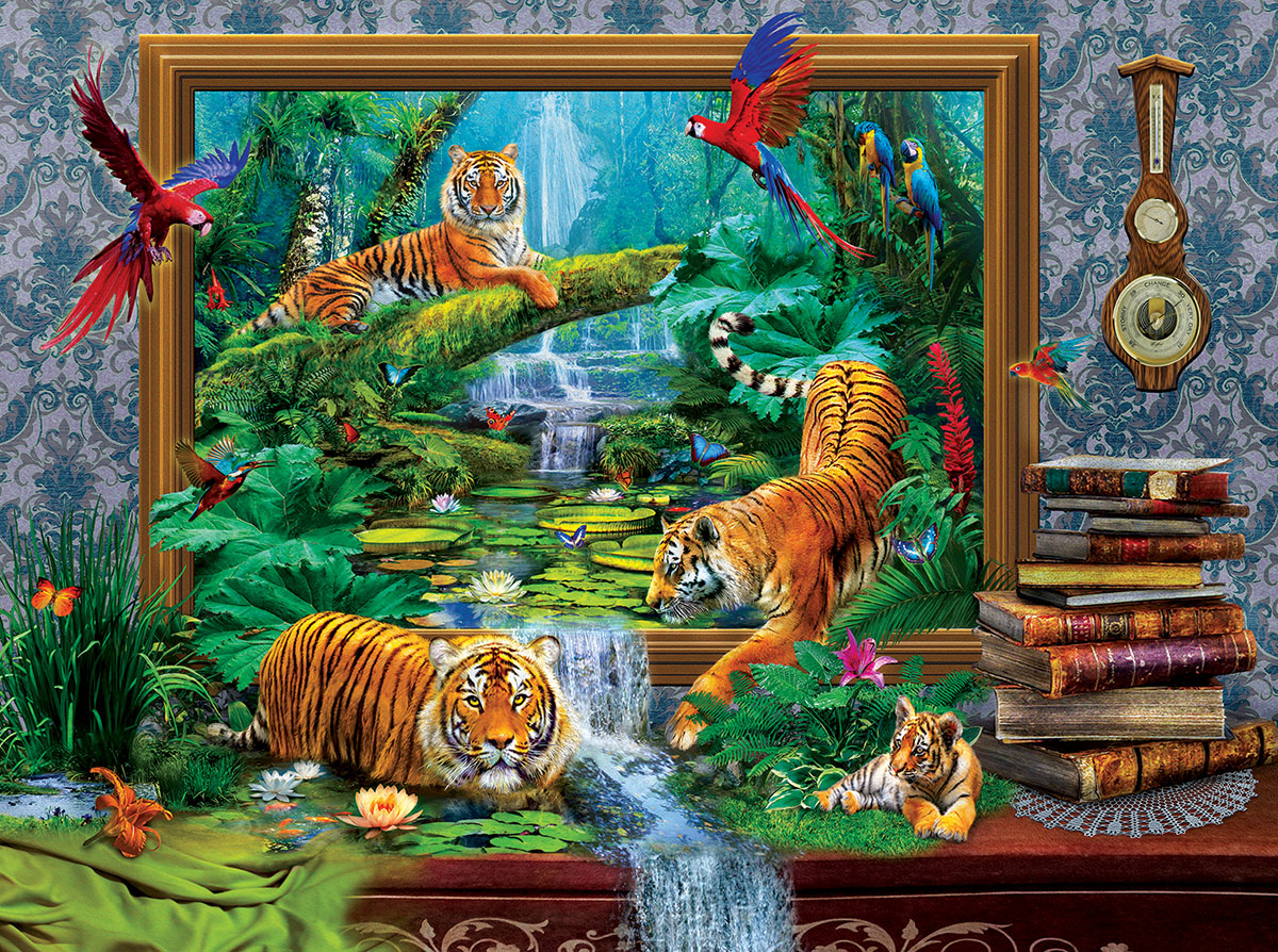 Out of the Jungle - Scratch and Dent Jungle Animals Jigsaw Puzzle