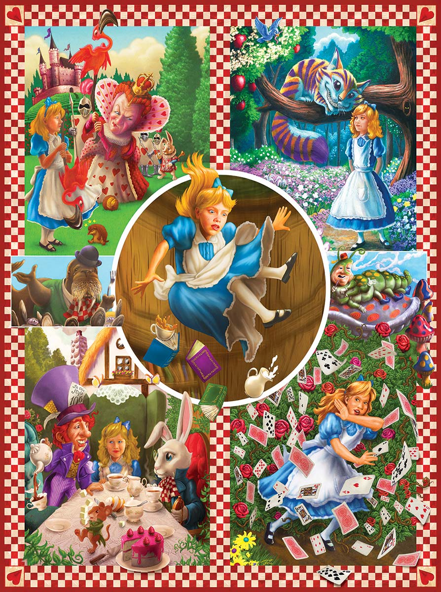 Classic Tales - Alice in Wonderland Movies / Books / TV Jigsaw Puzzle