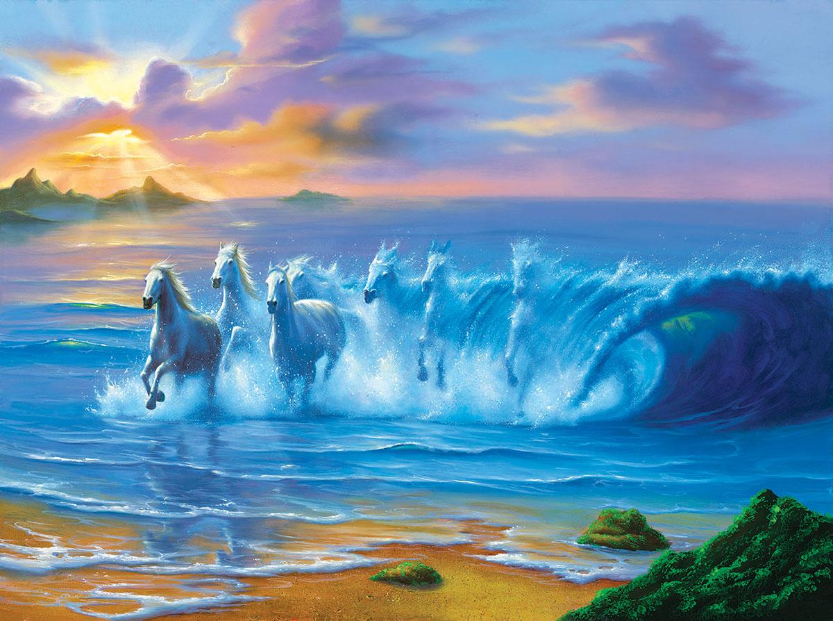 Wild Waves Beach Jigsaw Puzzle