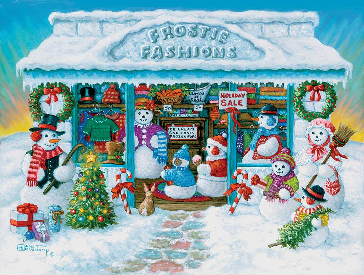 Frostie Fashions Snowman Jigsaw Puzzle