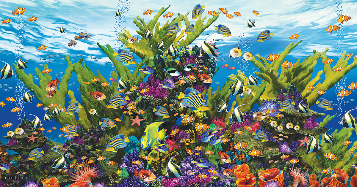 Aquarium of the Sea - Scratch and Dent Under The Sea Jigsaw Puzzle