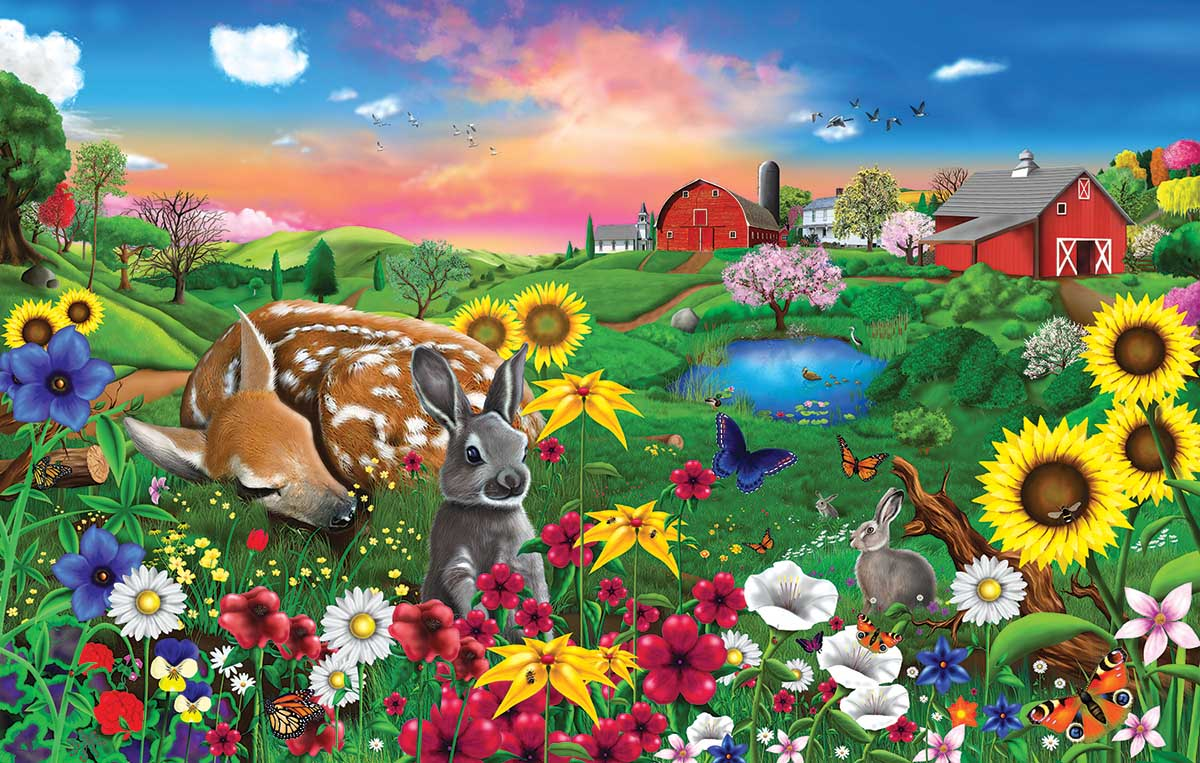 Pasture Buddies Animals Jigsaw Puzzle