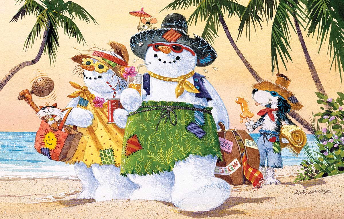 Vacation Time Beach Jigsaw Puzzle