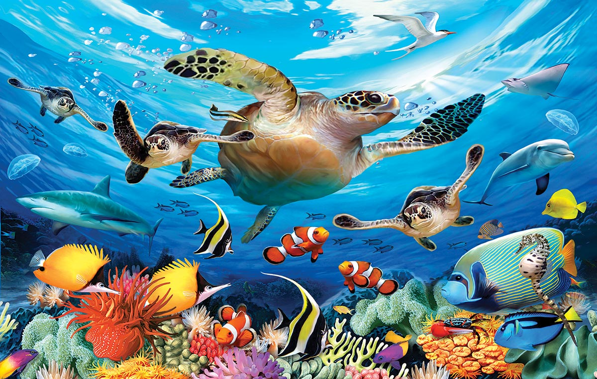 Journey of the Sea Turtles Under The Sea Jigsaw Puzzle