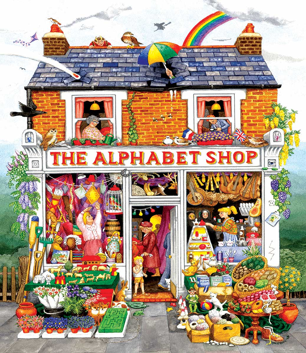 Alphabet House Shopping Jigsaw Puzzle