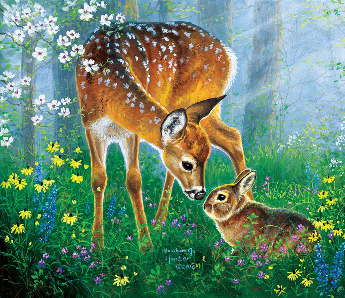 Friendly Forest Wildlife Jigsaw Puzzle