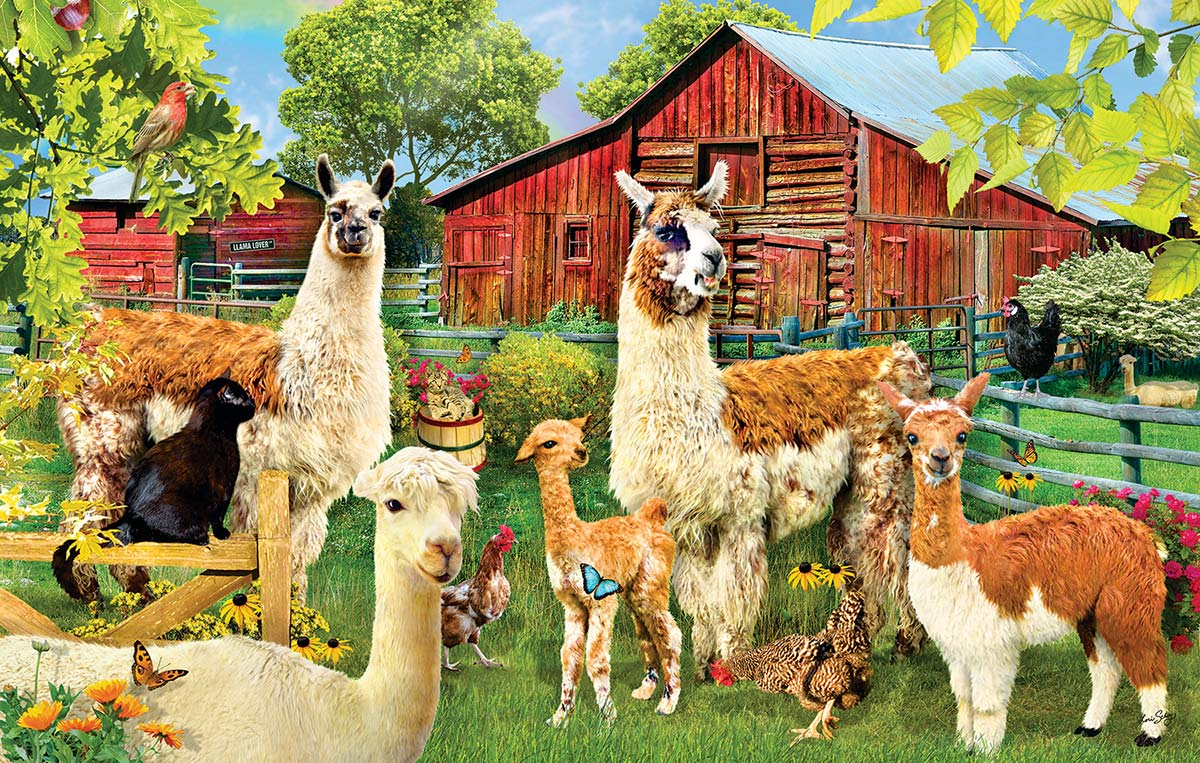 Llamas Farm Animals Jigsaw Puzzle