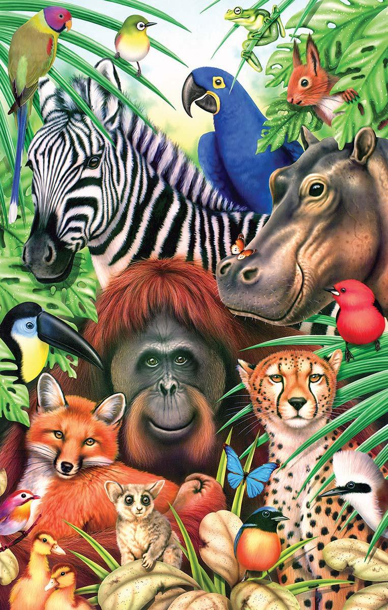 Jungle Magic Jungle Animals Jigsaw Puzzle