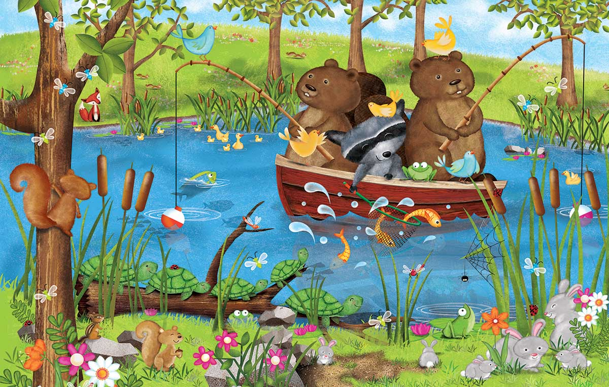 Going Fishing Animals Jigsaw Puzzle