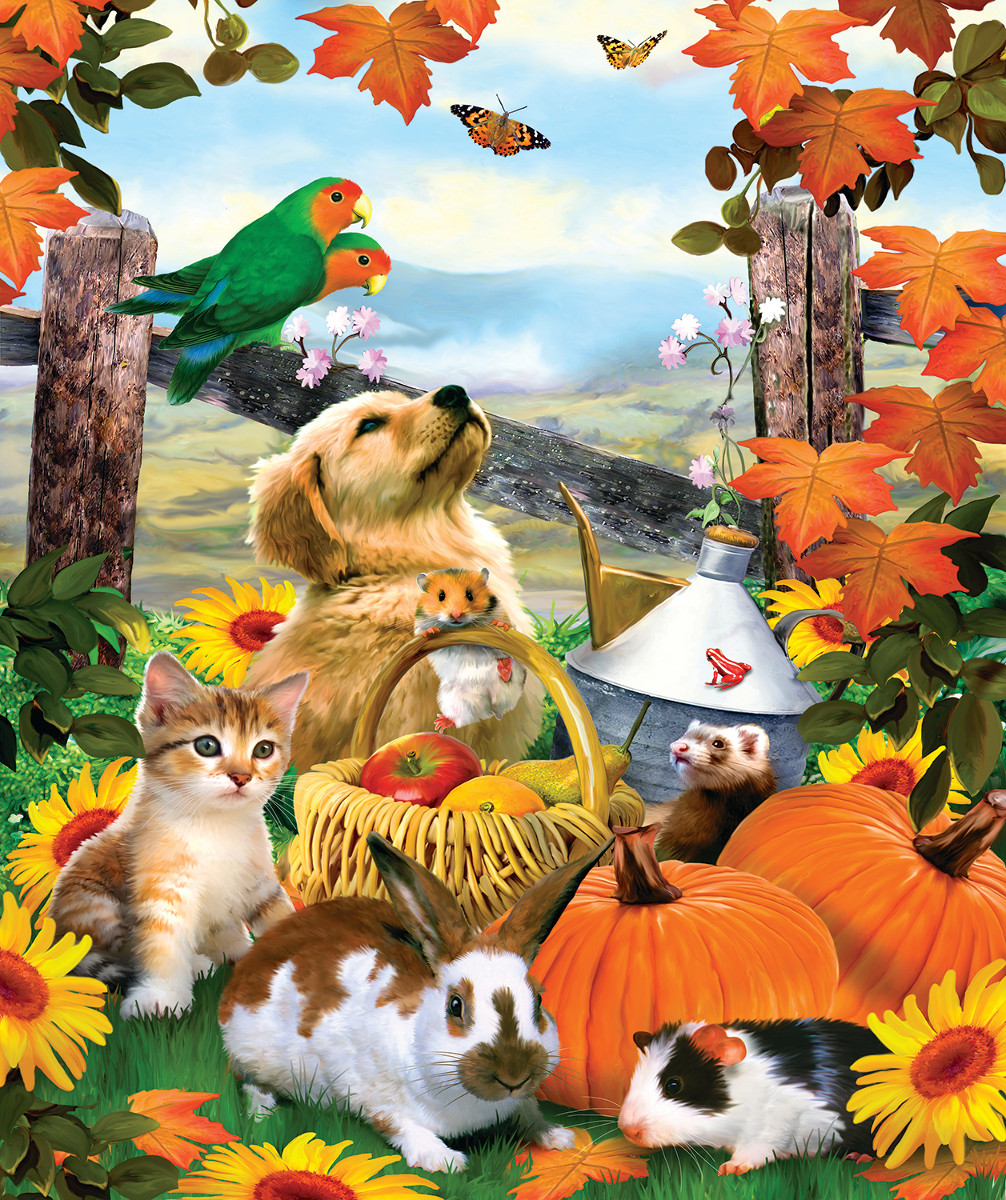 Harvest Moments Animals Jigsaw Puzzle