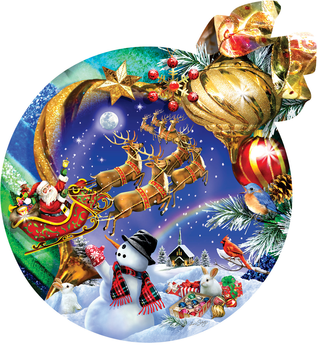 Christmas Ornament Christmas Shaped Puzzle